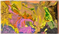 """Original Abstract Acrylic Painting on Canvas - 14"""" x 8"""""""
