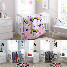 3Pc Baby Printed Crib Bedding Set Bedroom Nursery Comforter + Sheet