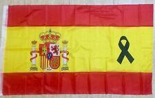 Bandera De España Grande Con Crespon Impreso 150x90 Cm Poliester Buena Calidad