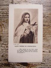 IMAGE PIEUSE ANCIENNE : Sainte Thérèse de l'Enfant Jésus