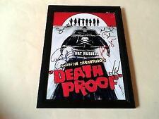 "DEATH PROOF CAST X3 PP SIGNED & FRAMED 12"" X 8"" POSTER TARANTINO KURT RUSSELL"