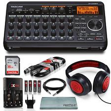 Tascam DP-008EX 8-Track Digital Pocket studio Along with Samson Studio Headph151