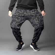 Hommes Camouflage Impression Taille Elastique Cordon Sport Gym Jogging Pantalons