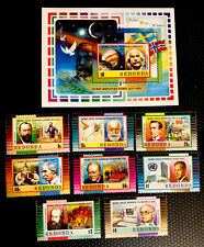 Redonda Stamps Nobel Peace Prize Set MNH