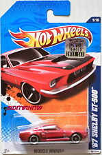 HOT WHEELS 2011 MUSCLE MANIA '67 SHELBY GT-500 RED FACTORY SEALED W+