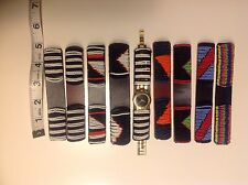 watch band beaded leather  7 bracelets Masai Watch Band Available
