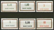 FRANCE:  FICTIFS de 1969 et 1971, LOT de 6 valeurs ** !