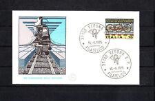 Italie  enveloppe 1er jour   train  chemin de fer    1975