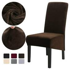 1/2Pcs Dining Chair Cover Velvet Removable Stretch Home Seat Chair Slipcover