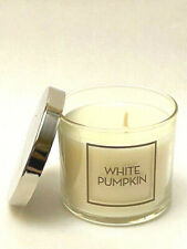 BATH & BODY WORKS SINGLE WICK SCENTED CANDLE WHITE PUMPKIN 4 OZ NEW