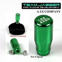 FOR EURO CAR! M12 THREADED!USA WHITE 6-SPEED LONG MANUAL GEAR SHIFT KNOB GREEN