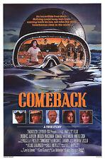 COMEBACK orig rolled SCUBA DIVING movie poster LAURA GEMSER/PRISCILLA PRESLEY