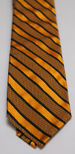 Robert Talbott SEVEN FOLD Gold with Black Stripe Limited Edition 6/40 Neck Tie