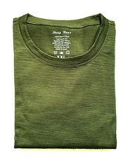 Men's 100% Merino Wool Outdoor Sports T Shirt Lightweight Athletics Short Tee