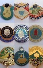 9 x Bulk Metal Bowling Membership Badges Pins Earlwood Camcraft The Entrance