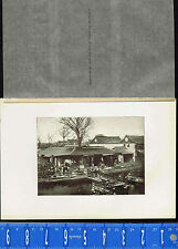 c1900 Chinese Popular Tea House in Old Part of Shanghai -1902 China Lithograph