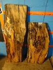 """A1538   1 9/16"""" THICK KILN DRIED 2, spalted Maple Live Edge Slabs mantel shelf"""