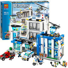 City Police Station Model building kits compatible with lego city 60047 blocks