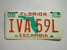 AUTHENTIC 1996 FLORIDA LICENSE PLATE