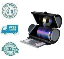New Black DVD CD Disc Manager 80 Storage Organizer Protection Desk Game Holder
