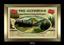 MAGNET TRAIN Post Card Photo Magnet OLYMPIAN New Steel Train Chicago Milwaukee