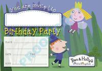 #14 Ben Et Holly Pack de 10 enfants fête d/'anniversaire Invitations