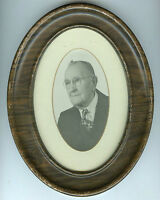 Antique Oval Framed Photo - Older Man W/Glasses- McVAY Family, Father of