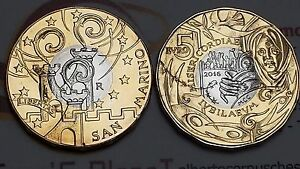 5 euro 2016 fdc bimetallico SAN MARINO Saint Marin Giubileo Misericordia