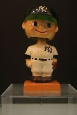 New York Yankees 1960's Vintage Bobble Head Nodder Baseball orange base, rare