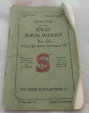 (SHP) Vintage Singer Sewing Machine Instructions Manual, Collectable