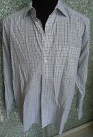 180 F10 Eterna Excellent Hemd Gr. L KW: 42 weiß schwarz grau kariert Langarm