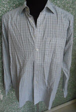 180 F10 Eterna EXCELENTE Camisa Talla L KW : 42 We ISS Negro Gris