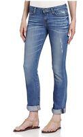 Big Star Womens Kate Straight Leg Jeans Denim Mid Rise Stretch Blue Sz 25x30