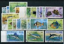 St Vincent 1975 Fish set SG422/43 FU