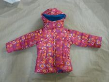 Toddler Girls Vertical '9 Pink Hearts Winter Jacket- Size 2T Hood