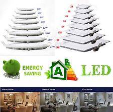 3W - 24W LED Panel Deckenleuchte Wandleuchte Einbauleuchte Einbaustrahler Lampe
