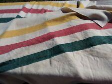 Vintage L.L Bean ~ Hudson Bay type Trade blanket wool 77 x 92 - Used