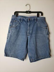 Key Carpenter Men's Denim Blue Jeans Shorts Size 36 Blue Work Construction