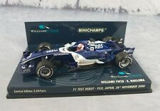 MINICHAMPS 1:43 Scale Williams FW28 K Nakajima F1 Test Debut Fuji Japan Limited