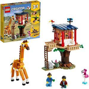 LEGO Creator 3in1 Safari Wildlife Tree House 31116 Building Kit 397pcs