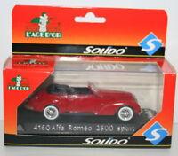 SOLIDO 1/43 SCALE DIECAST MODEL - 4160 - ALFA ROMEO 2500 SPORT - RED