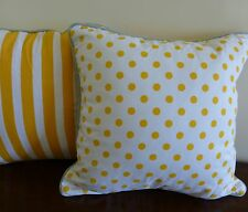 Alexa Reversible Cushion Cover mango spots and stripes gold yellow