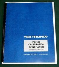 "Tektronix PG 506 Instruction Manual: w/ 11""X17"" Foldouts & Protective Covers"