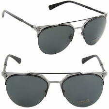 Authentic Versace VE2181-100187 Pilot Sunglasses Matte Black-Gunmetal/Grey Lens