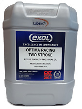 EXOL FULLY SYNTHETIC RACING TWO 2 STROKE OIL 20 LITRE JASO FD ONLY £3.25 per LTR