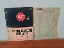 1971 Ac Gm Delco Dealer's Catalog & 79 Price Schedule, Crankcase Kits, Valves