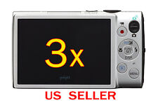 3x Canon ELPH 330HS Camera LCD Screen Protector Guard Cover Film