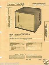 1956 Photofact CROSLEY J-17TABH 17TAMH 17TAWH CH 481 TV Alignment EXCELLENT COND