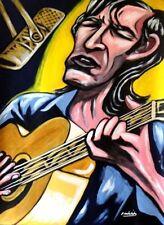 TOWNES VAN ZANDT PRINT poster texas troubadour cd nashville sessions guitar lp