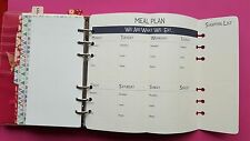 """Filofax Personal Planner Pages """" Meal Planer"""" + """"Shopping list"""""""